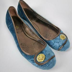 COACH Womens Sz 9B Suede Flat Slip On Shoes